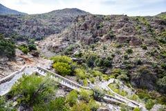 Omán Wadi Bani Habib Foto de archivo