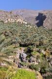 OMÃ: Vila de Abreyeen do al de Misfat em Hajar ocidental Imagem de Stock