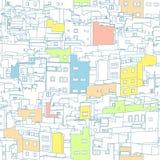Omöjlig stadbakgrund arkivbild