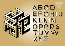 Omöjliga geometribokstäver Omöjlig formstilsort Royaltyfria Foton