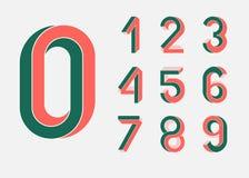 Omöjliga geometrinummer arkivfoton