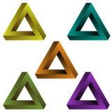 Omöjliga trianglar Arkivfoton