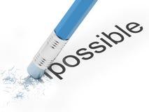 Omöjligt till möjligheten. vektor illustrationer