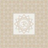 Om在框架瑜伽演播室设计卡片 库存图片
