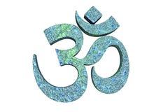 读Om或奥姆标志的印度词 向量例证