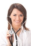 απομονωμένο γιατρός στηθ&om Στοκ Φωτογραφίες