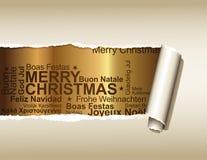 χαιρετισμοί Χριστουγένν&om Στοκ Εικόνα