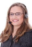 γυναίκα τηλεφωνικών κέντρ&om Στοκ Φωτογραφία