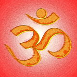 Om or aum hinduism symbol. For religion related web design art card and other background Royalty Free Stock Photos