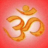 Om or aum hinduism symbol Royalty Free Stock Photos