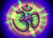 OM/AUM - Simbolo dell'assoluto! Fotografia Stock Libera da Diritti