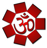 Om aum symbol. Red om aum symbol in eps Royalty Free Stock Images