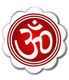 Om aum symbol. In white color frame eps Stock Photography