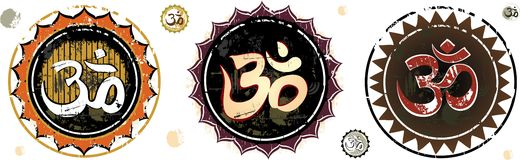 Om Aum Symbol. OM- The divine symbol of hinduism Stock Images