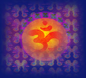 Om aum symbol on a grunge texture Stock Photo