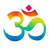 Om Aum symbol w Poligonalnym stylu Obrazy Royalty Free