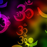 Om aum symbols Royalty Free Stock Images