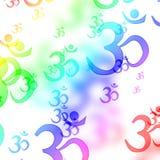 Om aum symbols Stock Image