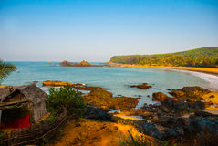 Om beach, Gokarna, Karnataka, India Royalty Free Stock Photography
