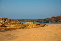 Om beach, Gokarna, Karnataka, India Royalty Free Stock Photo