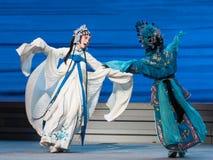 """Om de disconsolately-zevende handelingsdesintegratie van familie-Kunqu Opera""""Madame Witte Snake† te huilen Stock Afbeelding"""