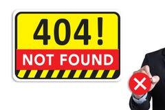 Om de Waarschuwingsprobleem van de 404 Foutenmislukking niet te vinden Royalty-vrije Stock Afbeelding