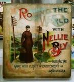 Om de Wereld met Nellie Bly Stock Afbeeldingen