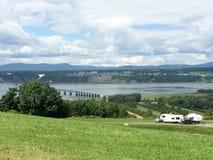 Om dig campa för St Lawrence River Fotografering för Bildbyråer