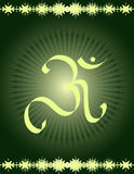 OM- Divine symbol. Of hinduism Royalty Free Stock Photo