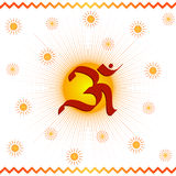 OM- Divine symbol. Of hinduism Stock Photo
