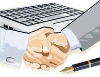 Om een contract te sluiten Stock Illustratie
