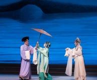 """Om een paraplu-Kunqu Opera""""Madame Witte Snake† te lenen Royalty-vrije Stock Afbeeldingen"""