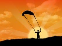Om een vlieger te vliegen Royalty-vrije Stock Foto's
