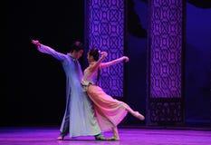 Om in elkaars te zien de oog-tweede handeling van de gebeurtenissen van dans drama-Shawan van het verleden Royalty-vrije Stock Foto