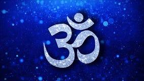 Om- eller Aum Shiva Element Blinking Icon Particles hälsningar, inbjudan, berömbakgrund royaltyfri illustrationer