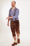 Om en bayersk man dansar Arkivfoton