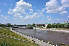 Om-flod Fotografering för Bildbyråer