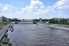Om-flod Arkivfoton