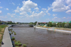 Om-flod Royaltyfri Fotografi