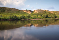 Om-floden Arkivbild