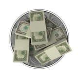 Om in geld te rollen Stock Afbeeldingen