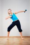 Om gymnastiek te doen royalty-vrije stock foto