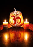 Om Halloween pumpkin Stock Image