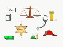 Om het even welke beroepen u kunnen veronderstellen, kunt u kiezen vector illustratie