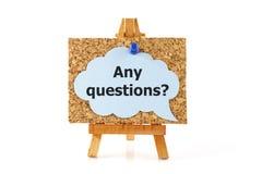 Om het even welke vragen? stock foto's