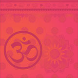 Om indian background Royalty Free Stock Images