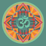 Om inside mandala Royalty Free Stock Image