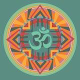 Om inside mandala. Set of color mandala. vector  illustration Royalty Free Stock Image