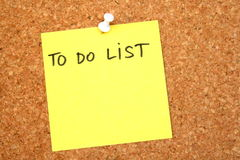 Om lijst te doen Stock Foto's