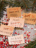 Om lijst TE DOEN omgezet in de resoluties van het Nieuwjaar Stock Afbeeldingen